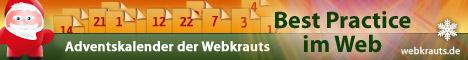 Adventskalender der Webkrauts